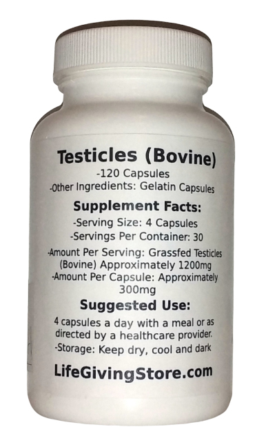 Grass Fed Beef Bull Testicle Supplement (Orchidic)