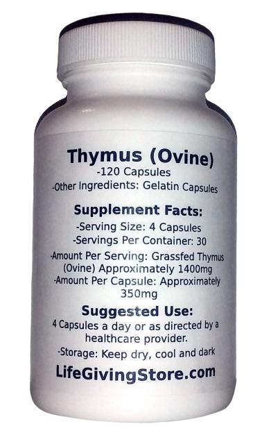 Grass Fed Lamb Thymus
