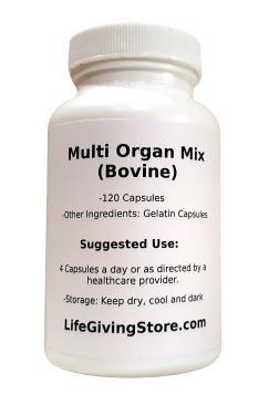 Grass Fed Multi Organ Mix Front