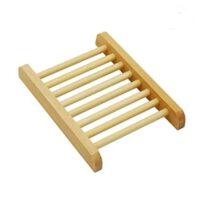 natural wood soap holder